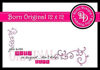 Born an original 12 x 12 preview