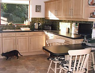 Kitchen finished red