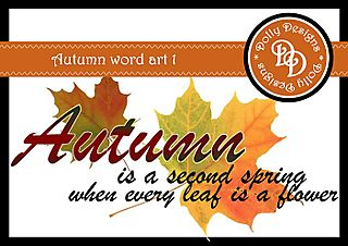 Autumn word art 1