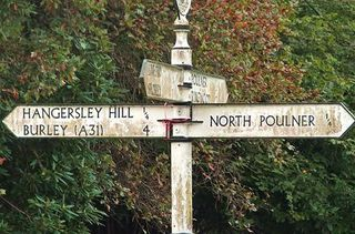 Red signpost