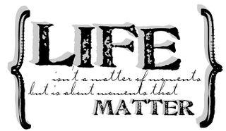 Life word art