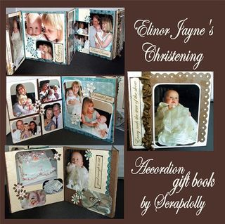 Accordion christening book
