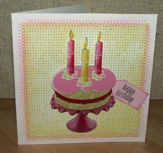 Scrumptious birthday card