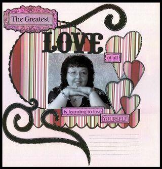 Greatest love with swirls