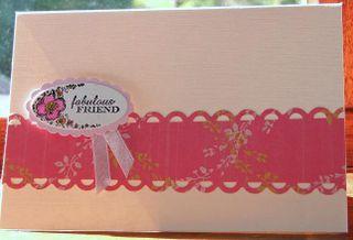 Card 2 fabulous friend