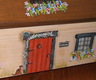 Cottage front door red