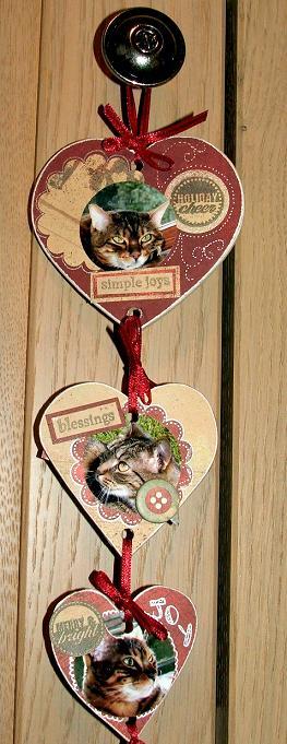 Heart hanger side 1