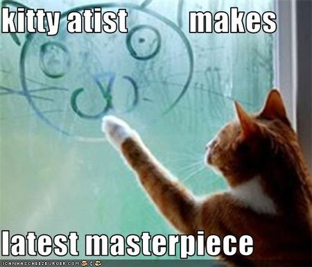 Funny-pictures-cat-makes-art