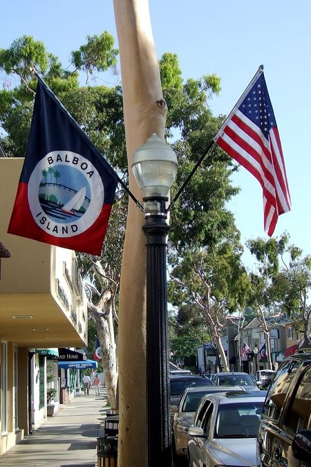 Red balboa flags