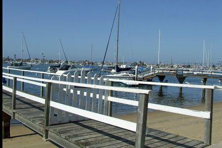 Red balboa pier