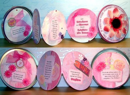 Flower tin pages