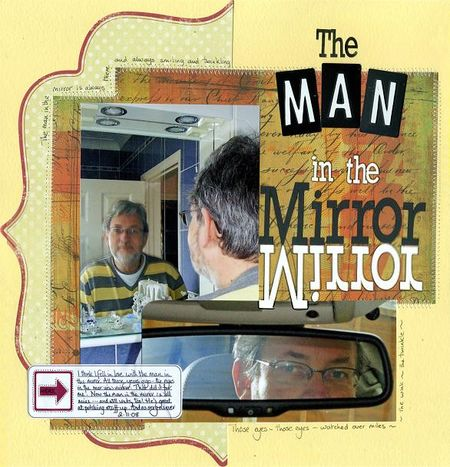 Man in mirror
