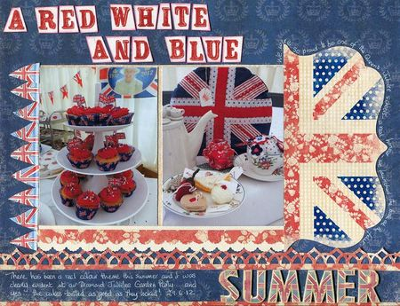 Red white and blue summer