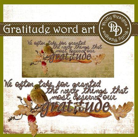 Gratitude word art preview