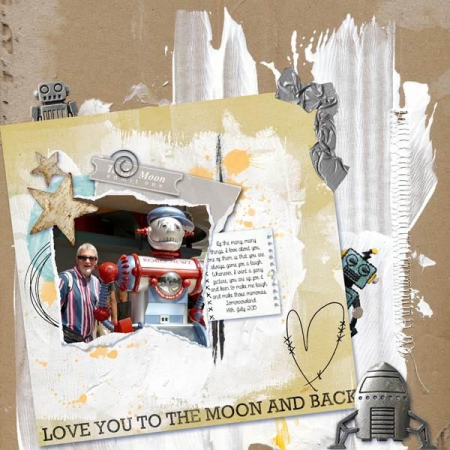To the moon and back scrapbook