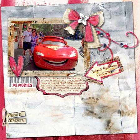 Memories cars land scrapbook