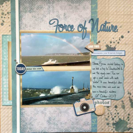 Force-of-nature scrapbook