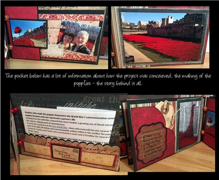 Poppies mini book pages 5 and 6