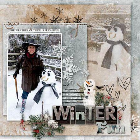 Snowman-frozen