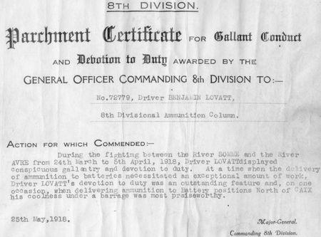 Grandad's certificate