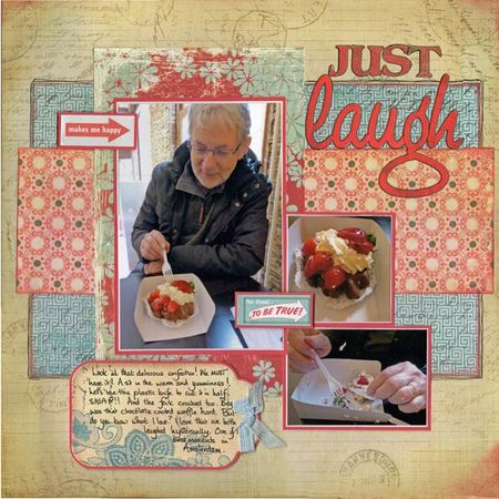 Laugh scrapbook page