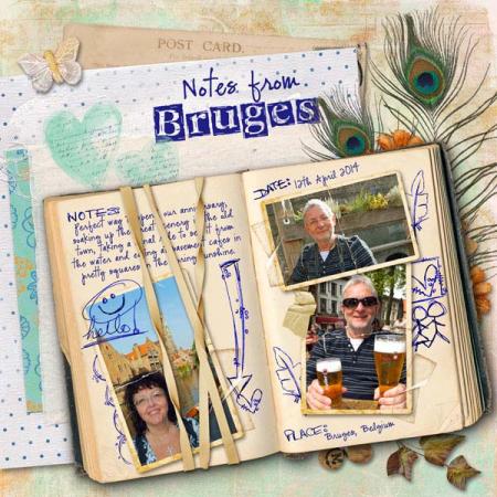 Bruges scrapbook