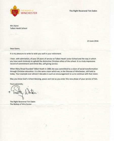 Bishop's-letter