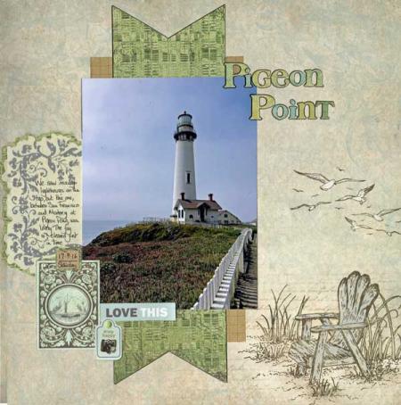 Pigeon-point scrapbook