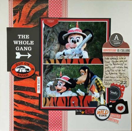 Minnie Animal Kingdon Scrapbook