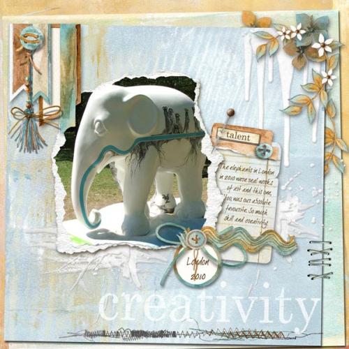 Artistry scrapbook elephant