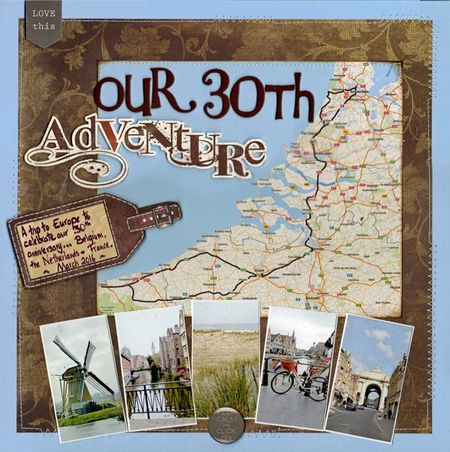 Travel cover scrapbooking