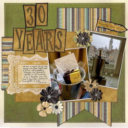 30 years scrapbook page