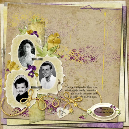 Generations scrapbook page