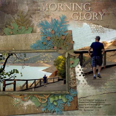 Nu Morning-Glory scrapbook