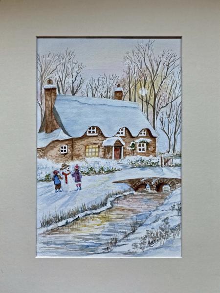 Snow xmas card
