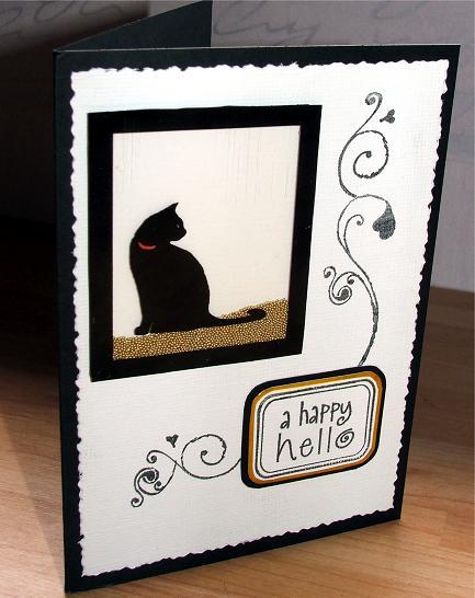 Cat card shaker