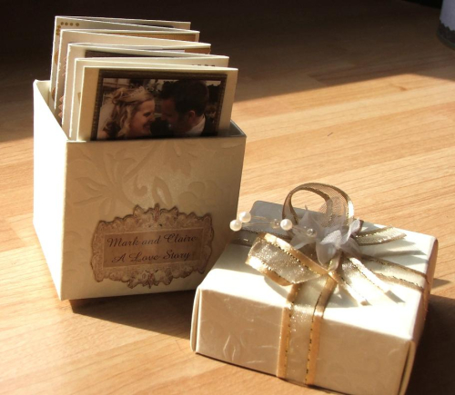 Wedding box open